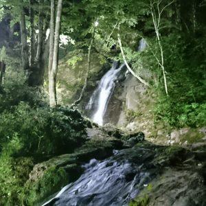 宇津江四十八滝ライトアップ